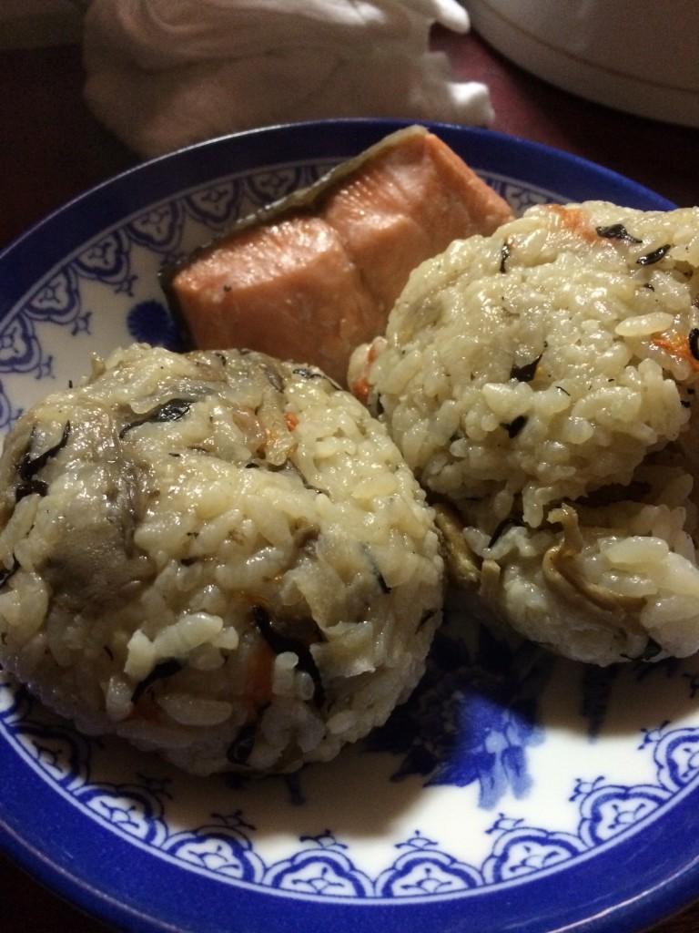 混ぜご飯と鮭