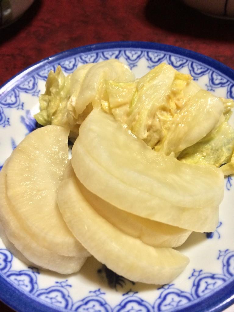 白菜と大根の漬物