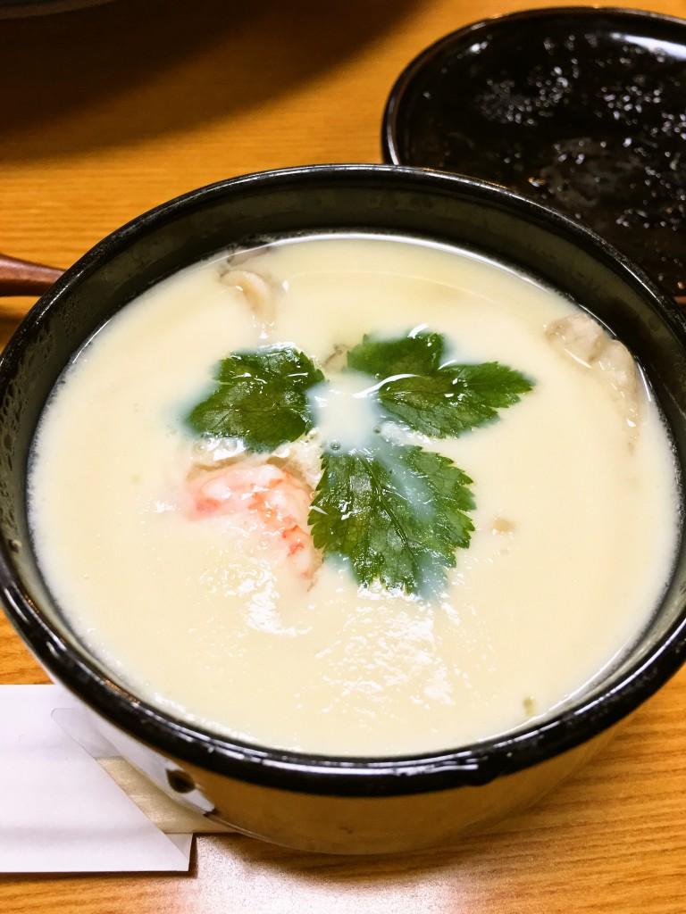 釧路お寿司千歳鮨宴会コース 茶わん蒸し