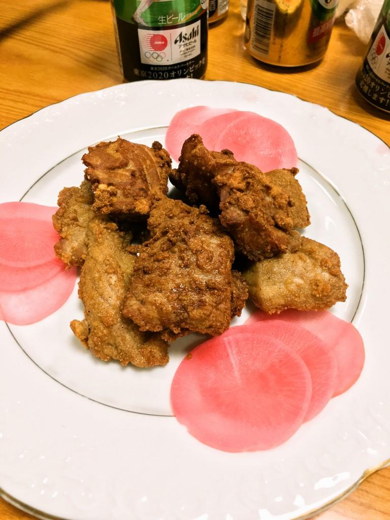 釧路お寿司千歳鮨宴会コース マグロの唐揚げ
