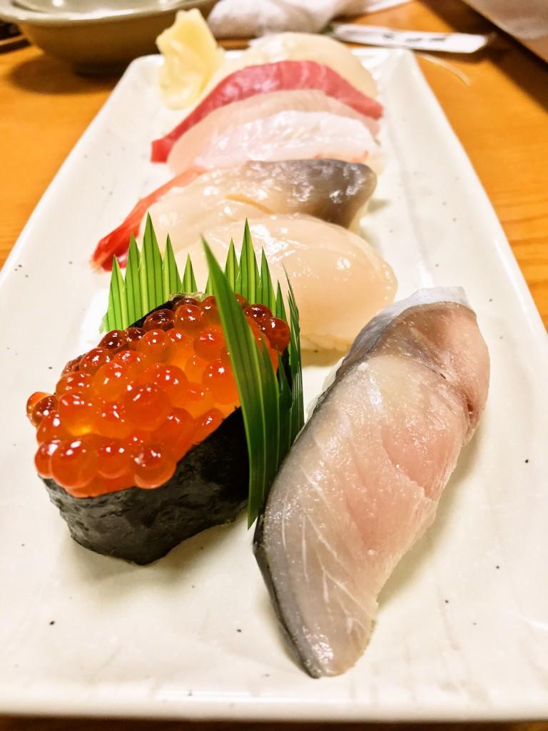 釧路お寿司千歳鮨宴会コース にぎり