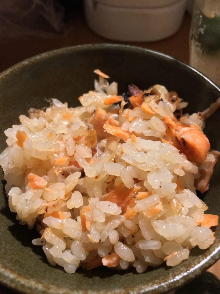 定置時の西京焼き混ぜご飯