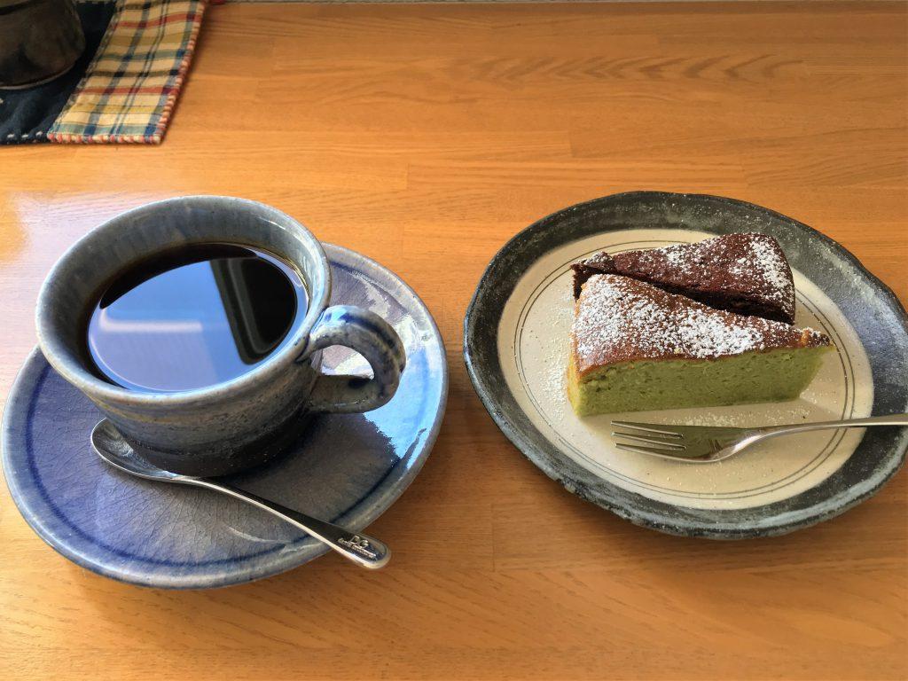 海あかり手作りケーキセット600円