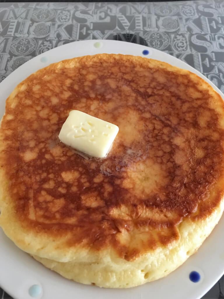 自作のホットケーキ