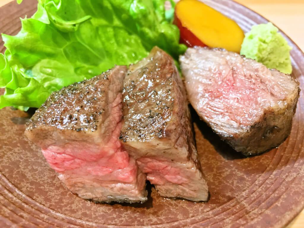 おまかせ10品コース池田牛のヒレ肉とミスジ