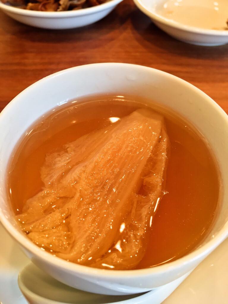 白菜の芯のスープ