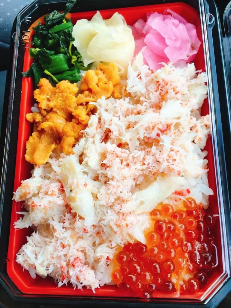 海鮮市場めし兆 三色めし540円