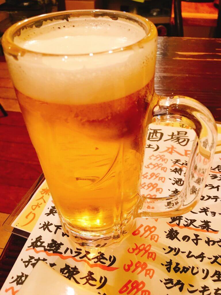 またビール