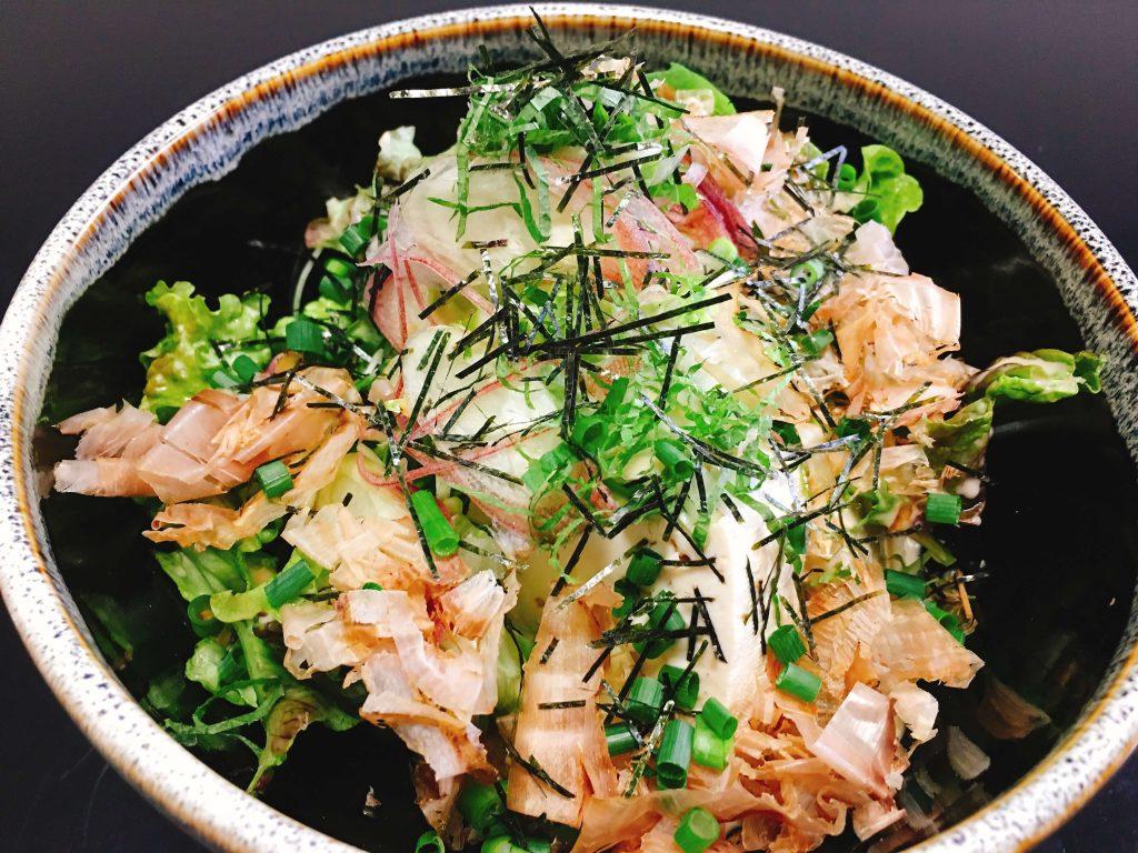 1丁豆腐サラダ380円