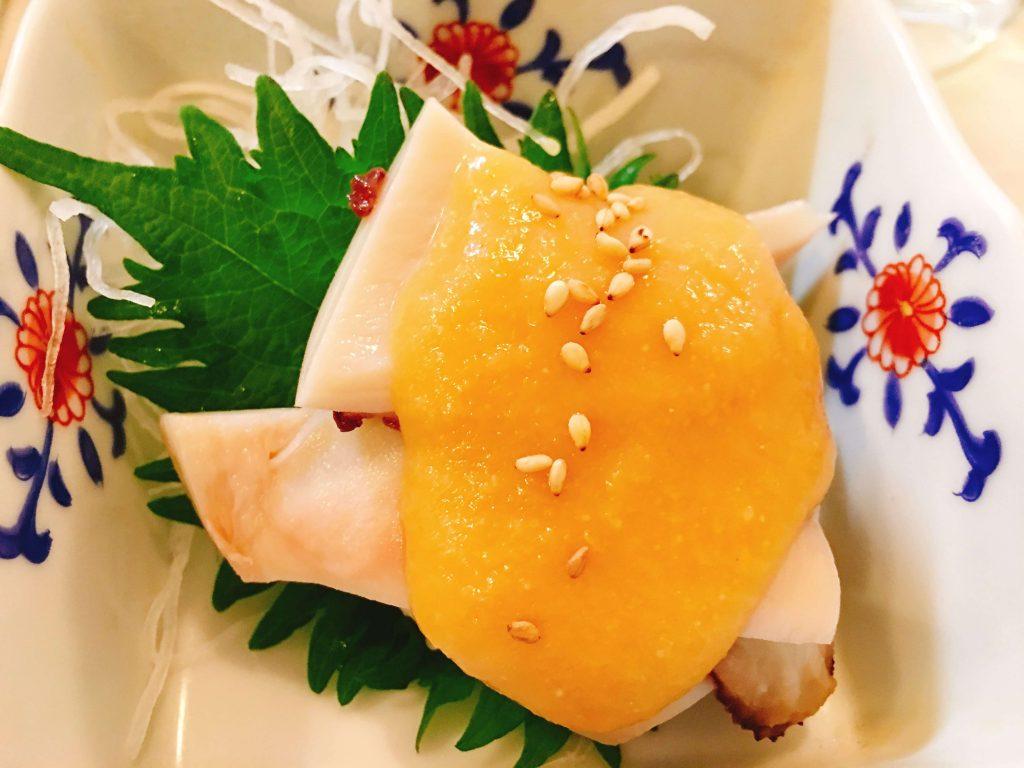 たこ頭辛し酢味噌150円