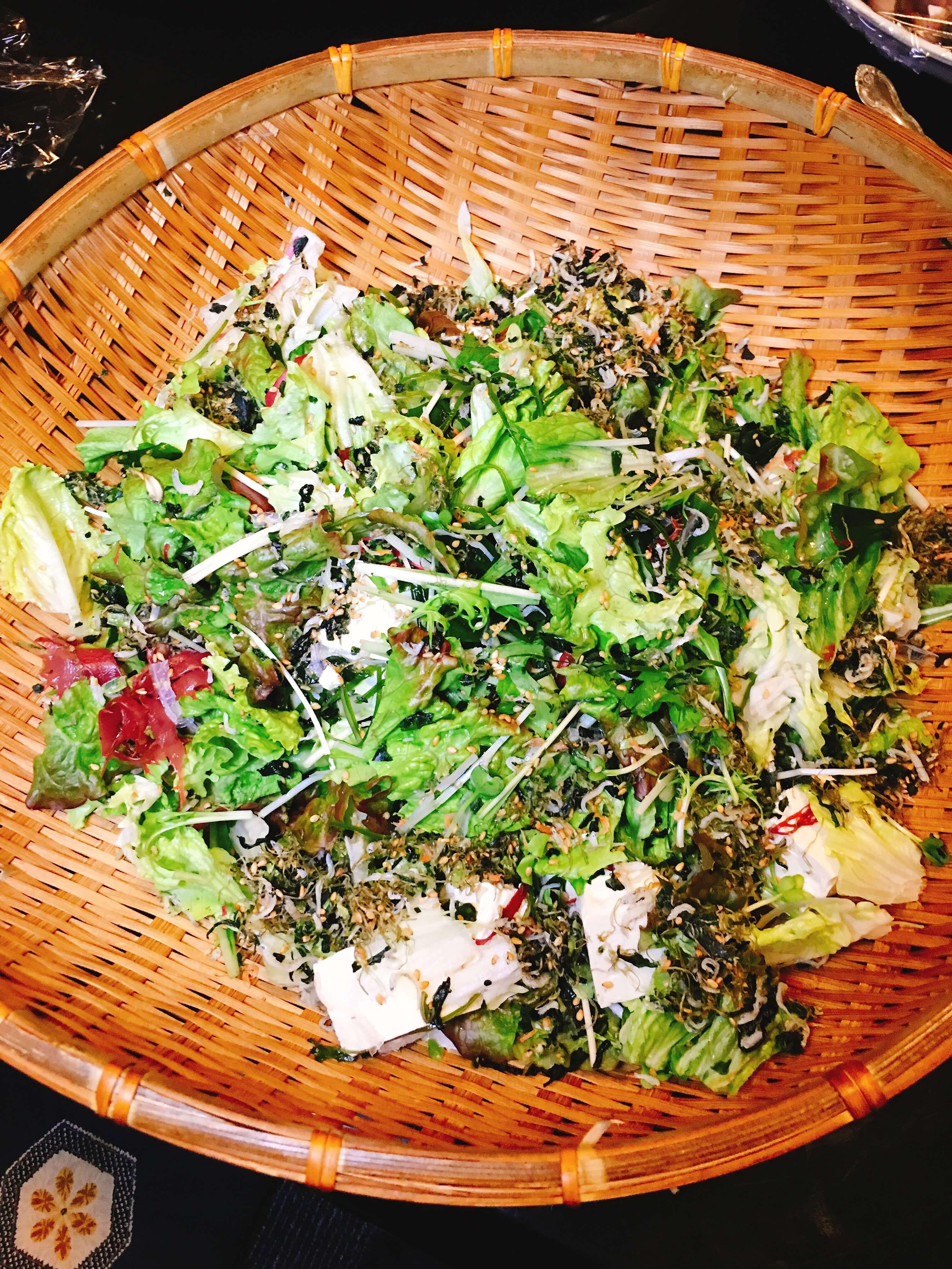 笑楽宴会コース豆腐サラダ