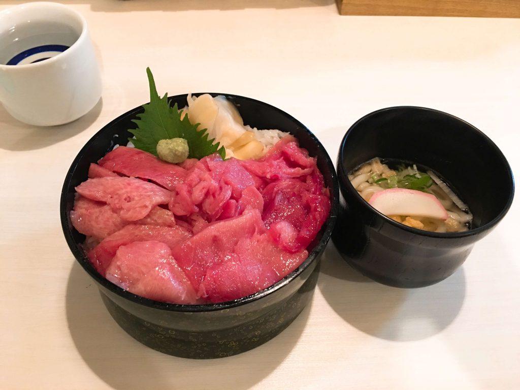 中落丼(780円+大盛り150円)
