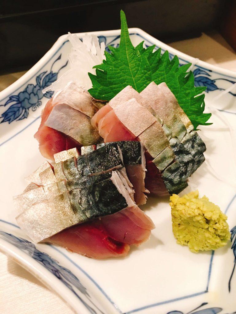 釧路しめ鯖刺身850円