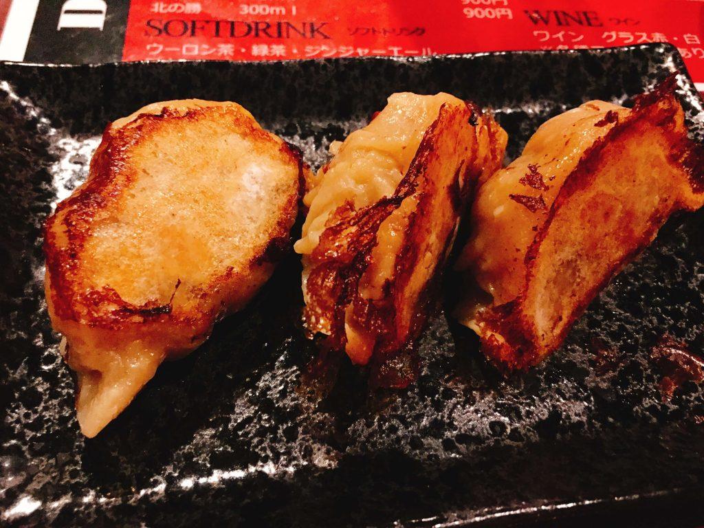 今月限定コーンカレー餃子380円