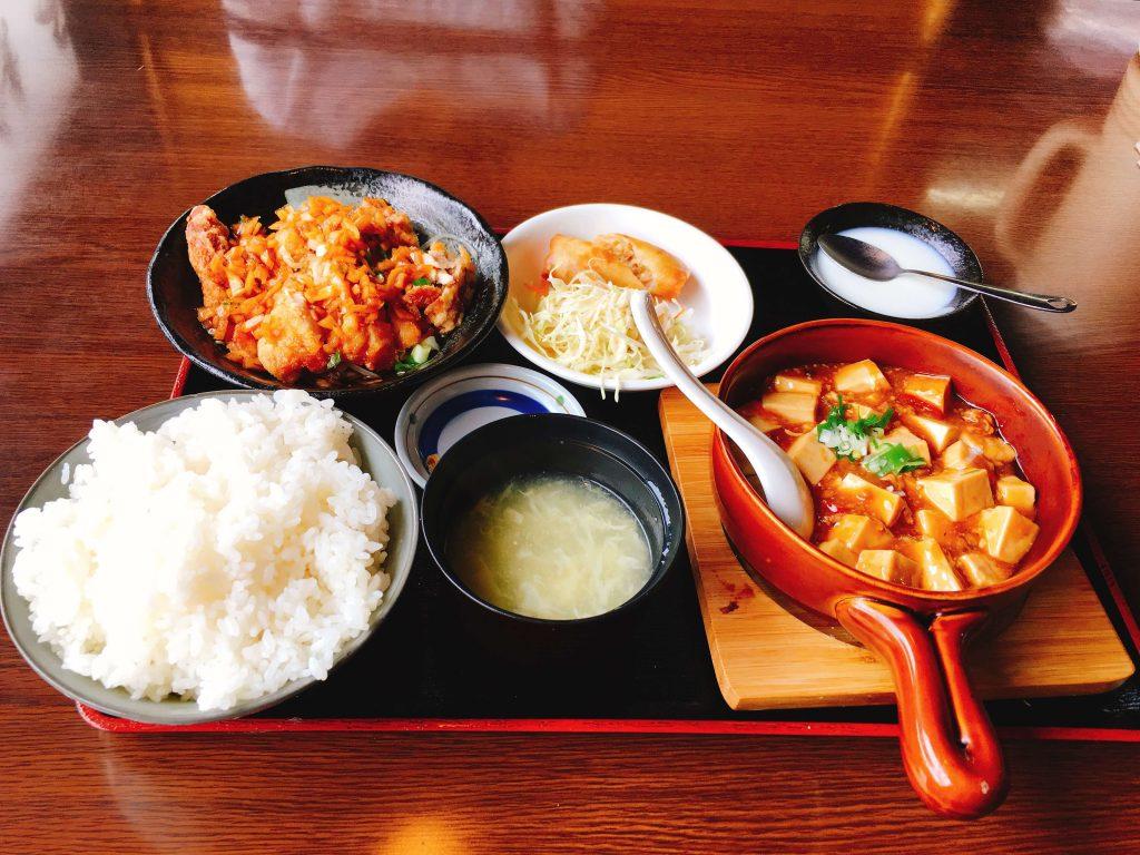 麻婆豆腐定食1166円
