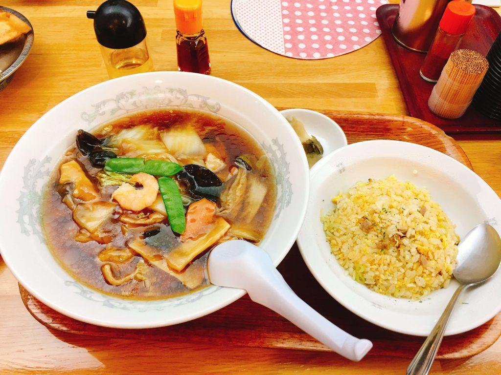 広東麺セット800円