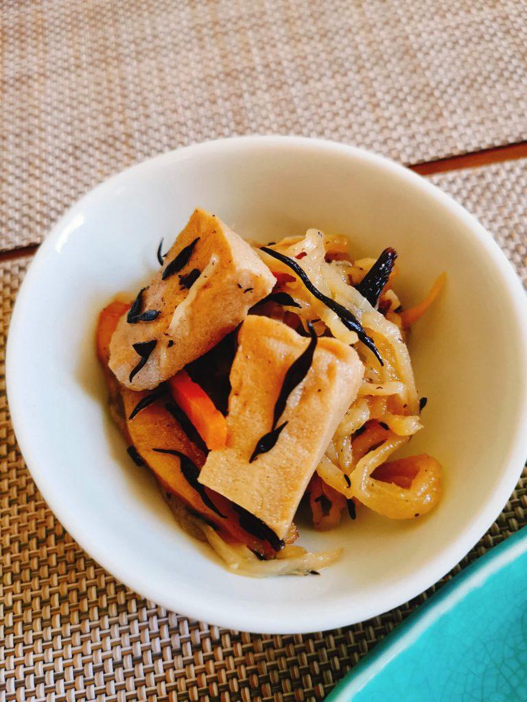 切り干しと高野豆腐の煮物