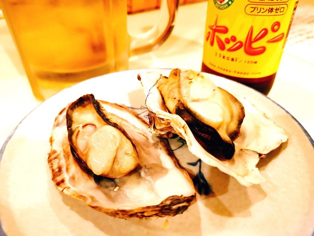 蒸し牡蠣1個なんと100円!