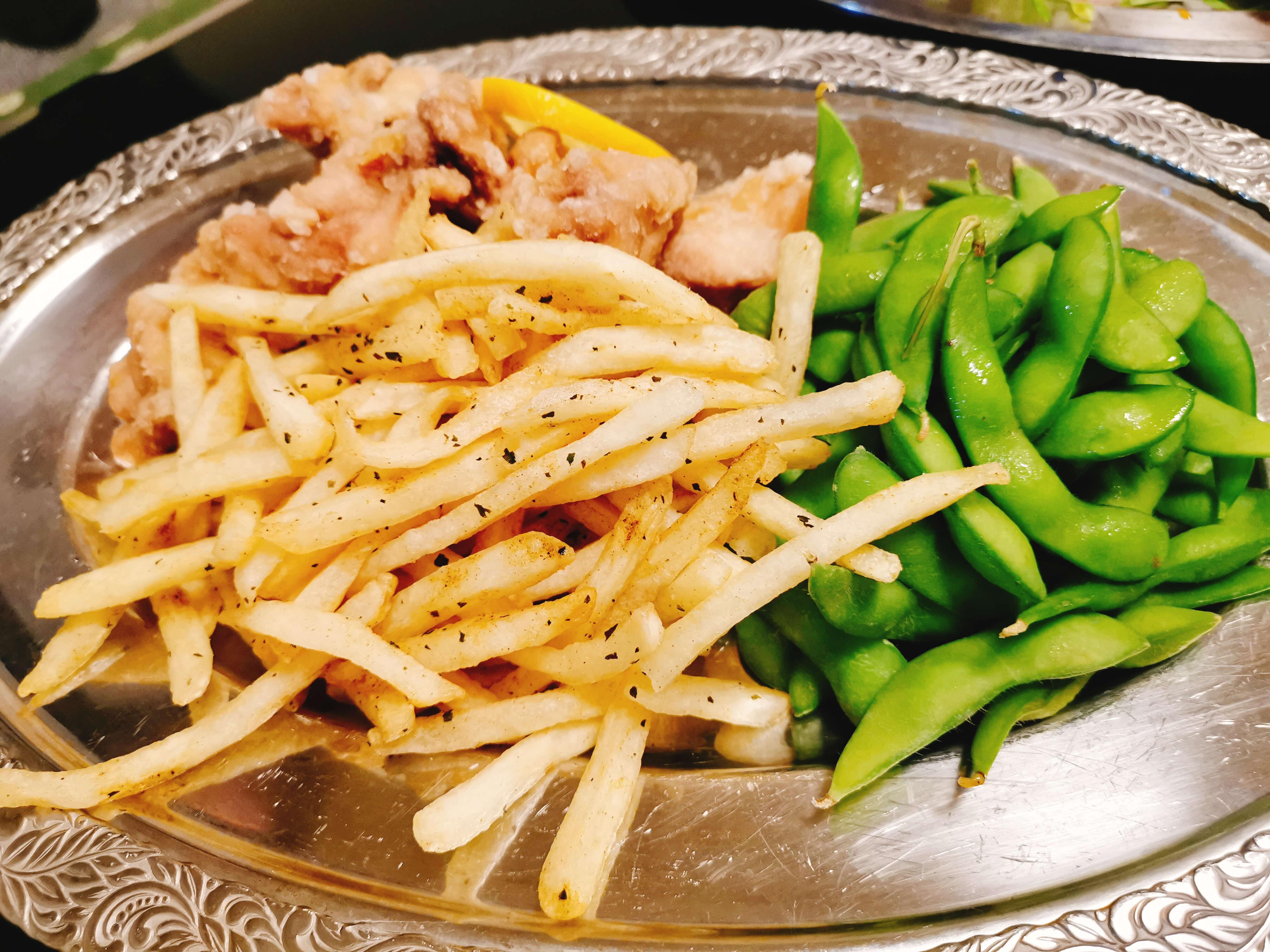 塩から揚げポテト枝豆