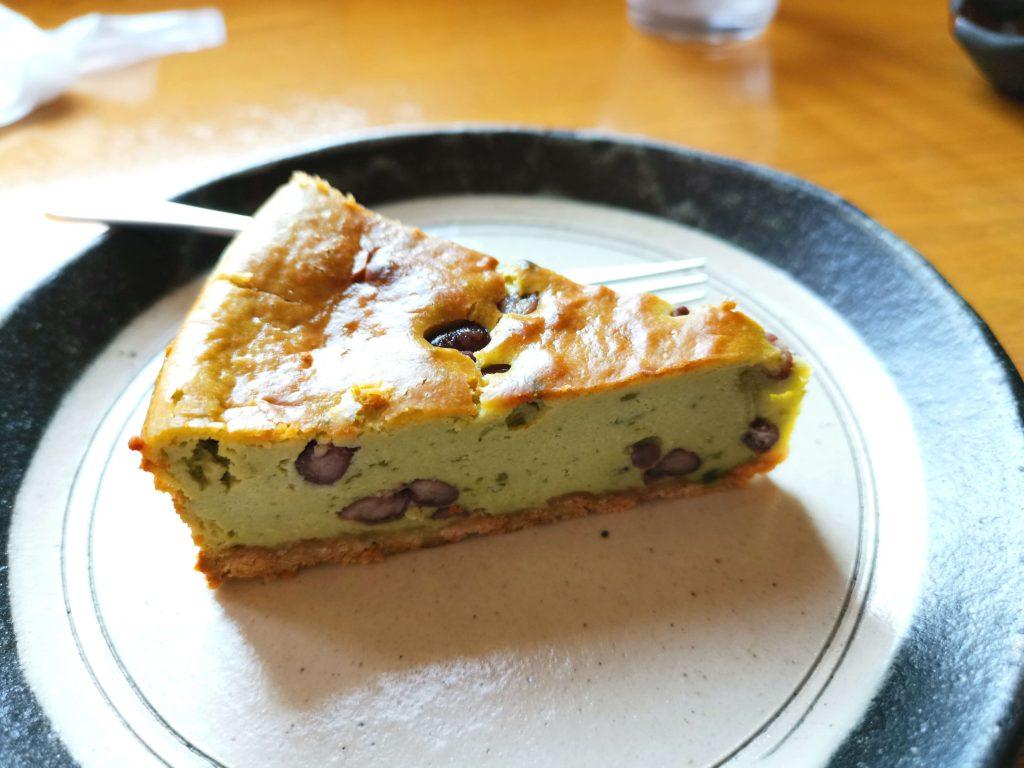 海あかり抹茶小豆ベイクドチーズケーキセット600円