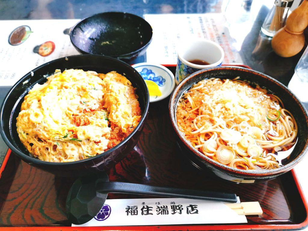 そば出汁かつ丼セット1330円