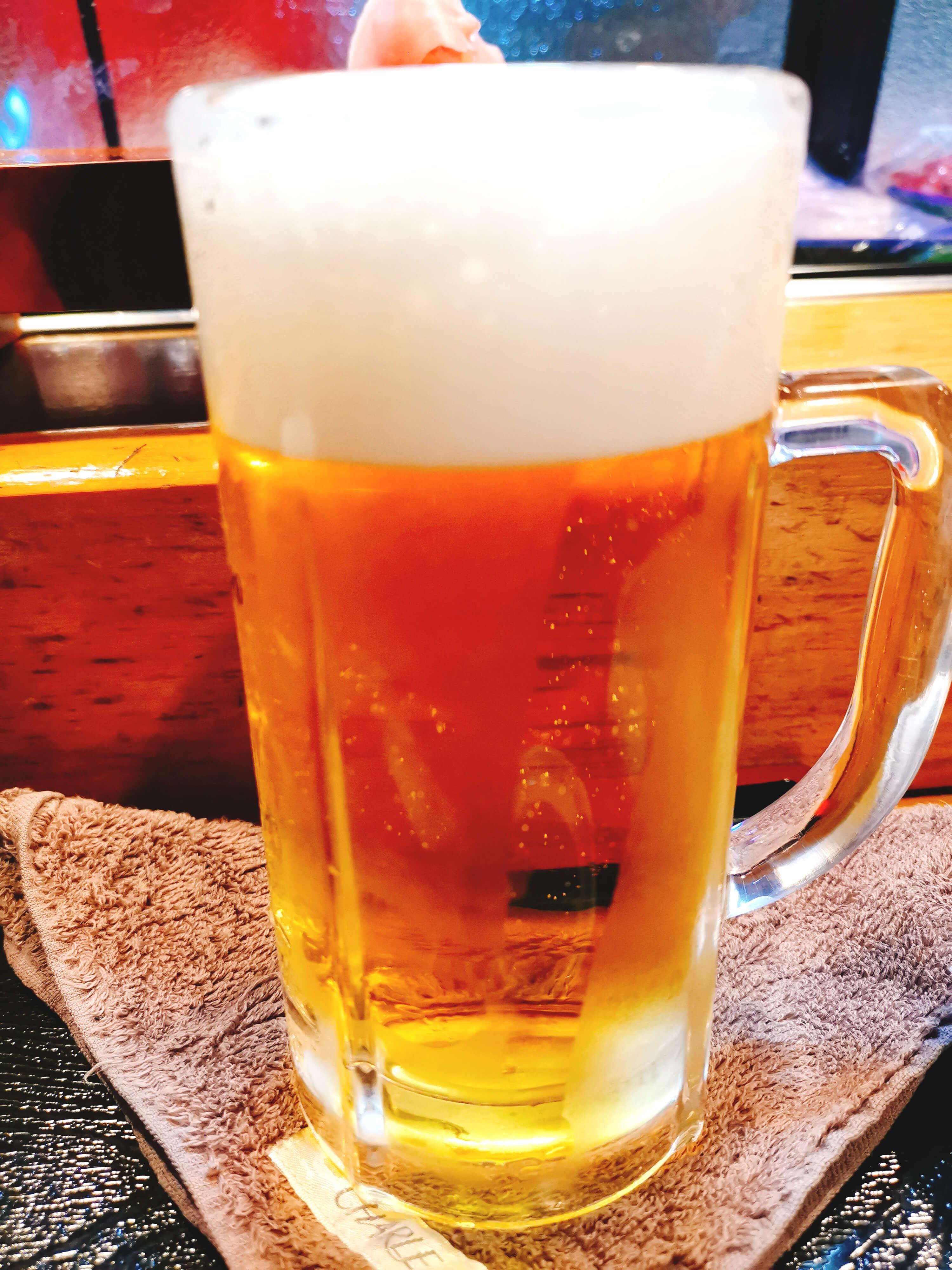 ビール300円(17時~19時半まで)