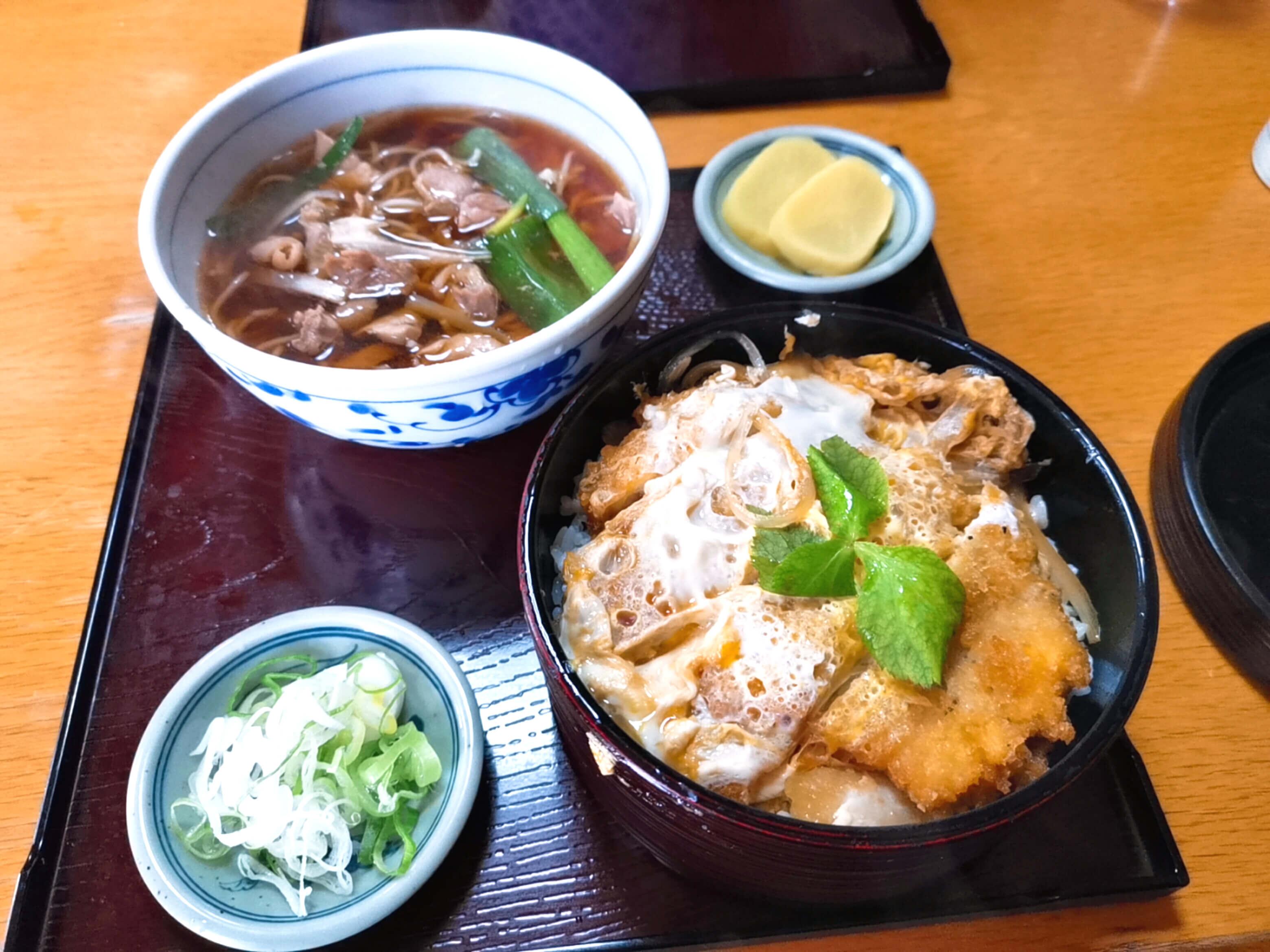 カツ丼蕎麦セット1000円