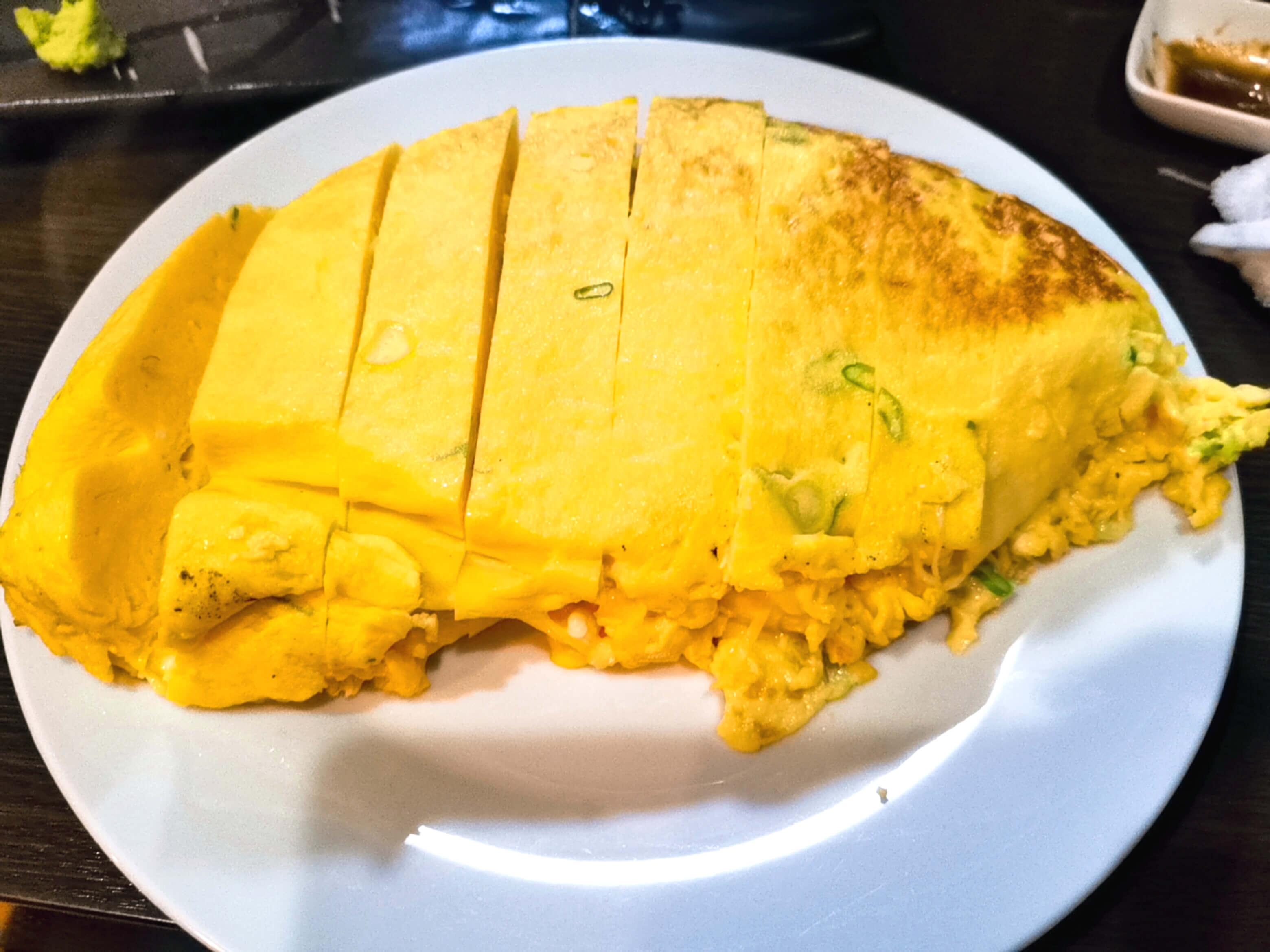 釧路居酒屋たぁ卵20個使った巨大卵焼き