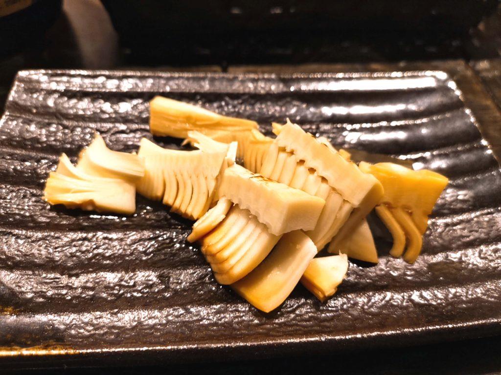 新鮮な竹の子蒸し焼き